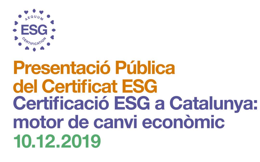 Presentació certificació ESG